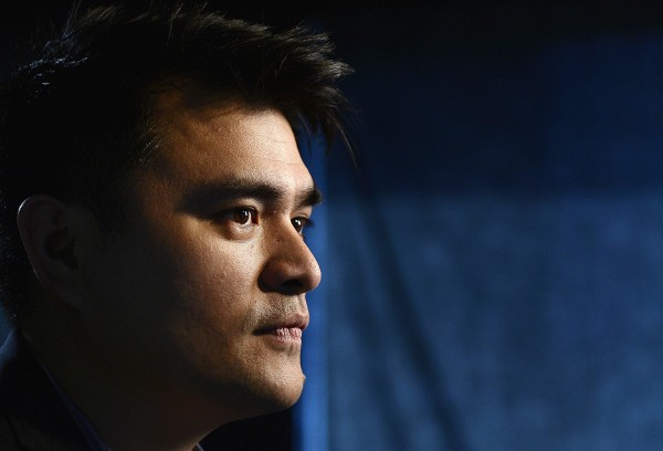 "Image: Journalist and director of film ""Documented"", Jose Antonio Vargas, poses for a photograph in Los Angeles, Californa"