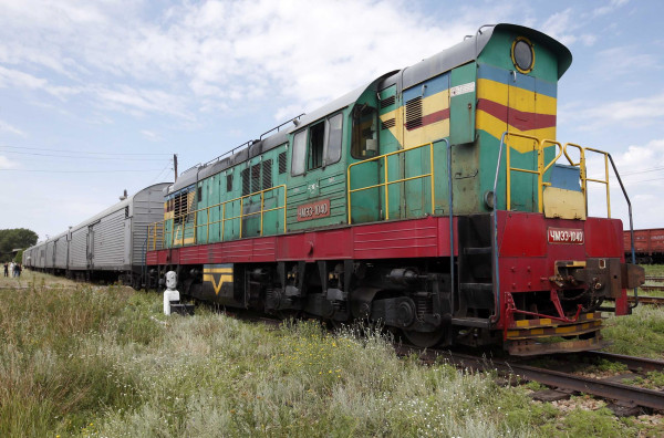 Image: Train carrying MH17 victims