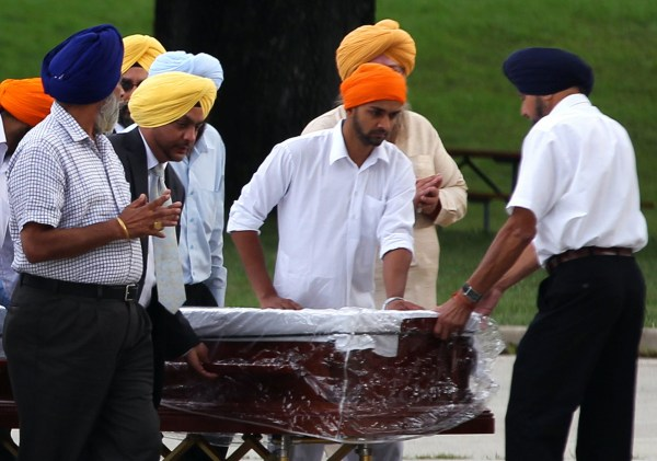 Image: Memorial service for the Sikh Temple shooting victims in Oak Creek