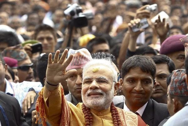 Image: Indian prime minister Narendra Modi visits Nepal