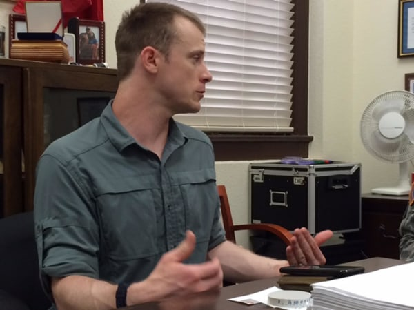 Image: Bowe Bergdahl on Tuesday, Aug. 5, 2014.