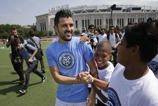 Image: David Villa, the Spanish all-time leading goal scorer, signed with the New York City Football Club.