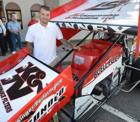 Image: Dirt track racer Paul Kinney