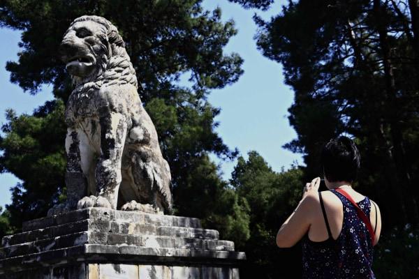 Image: Marble Lion of Amphipolis