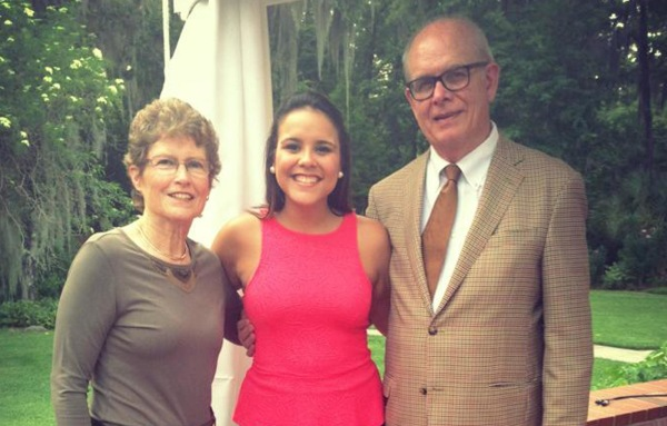 Image: Stephanie Rolon Rodriguez, a medical student at FSU's Bridge Program, shown here with University of Florida president Bernie Machen and his wife Chris.