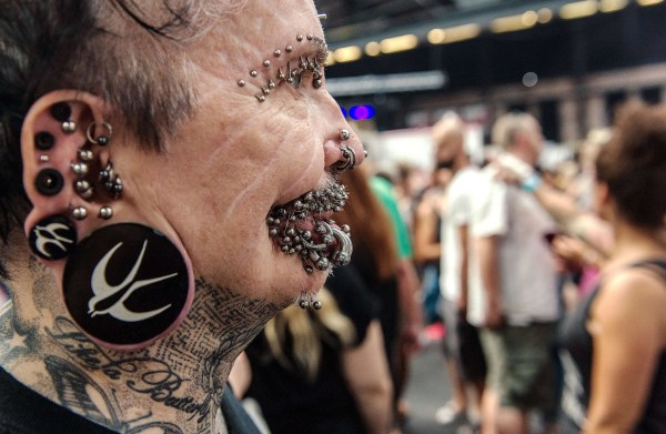 Image: Rolf Buchholz, the world's most pierced man