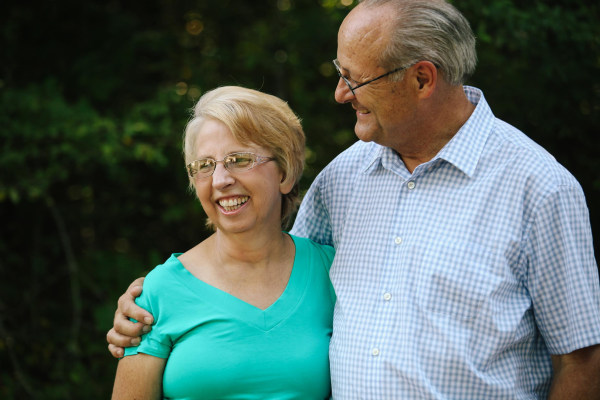 Image: SIM missionary Nancy Writebol stands with her husband David, in an undisclosed location