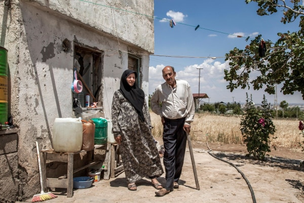 Image: Hassan and Khadija live near the border with Syria