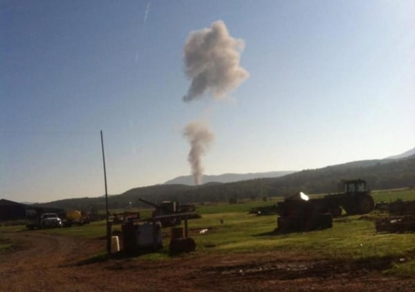 Image: A Massachusetts Air National Guard F-15C fighter crashed Wednesday morning in Deerfield, Virginia.