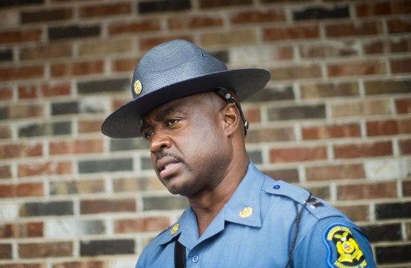 Image: Capt. Ron Johnson of the Missouri State Highway Patrol speaks