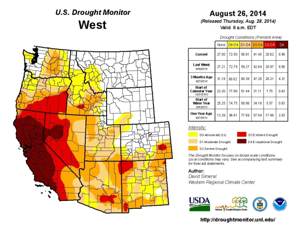 Image: Drought map of the West