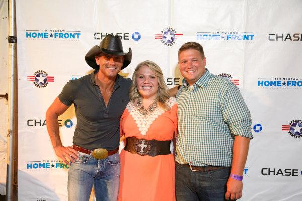 Tim McGraw with BJ & Brooke Frachiseur