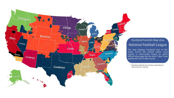 NFL Fans Facebook Map