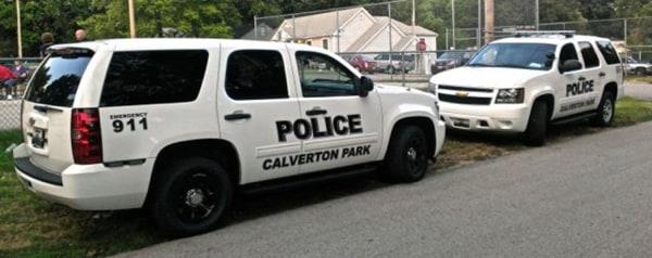 Calverton Park, Mo., police vehicles