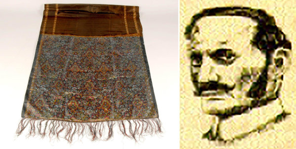 Image: A shawl that was taken from the murder scene of Jack the Ripper's fourth victim