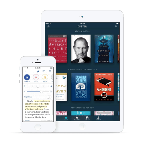 Oyster Book Subscriptions