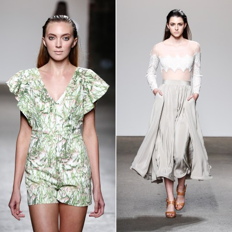 Image: Models walk the runway during  the Sofia Arana show at Nolcha Fashion Week New York Spring Collections 2015 during NY Fashion Week on Sept. 8, in New York City.