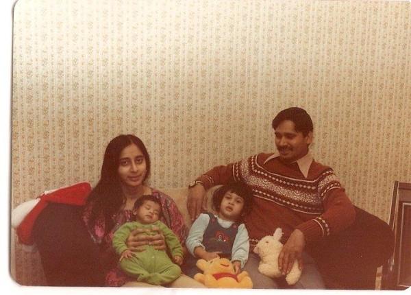 Aparna Nancherla and family.