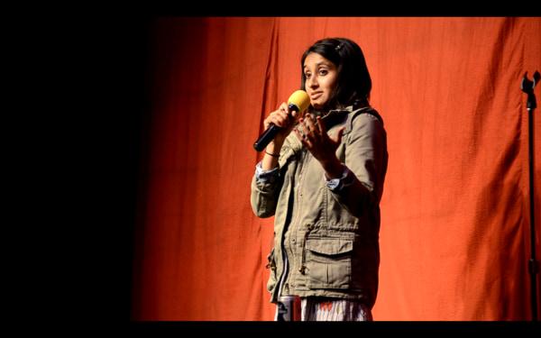 Aparna Nancherla performing.