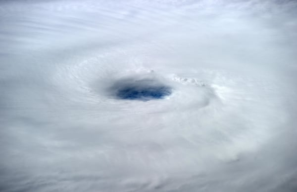 Image: The eye of Hurricane Edouard is visible in the Atlantic Ocean, as seen from the International Space Station.