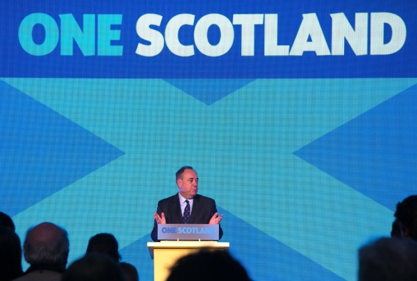 Image: Scottish First Minister Alex Salmond early Friday