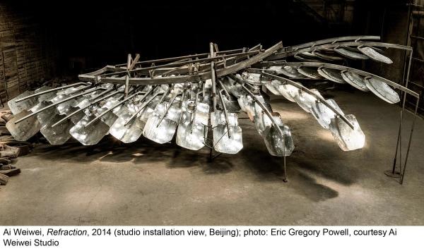 Ai Weiwei, Refraction, 2014 (studio installation view, Beijing)