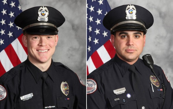 Image:Left: Beavercreek Police Officer Sean C. Williams; Right: Beavercreek Police Sgt. David M. Darkow