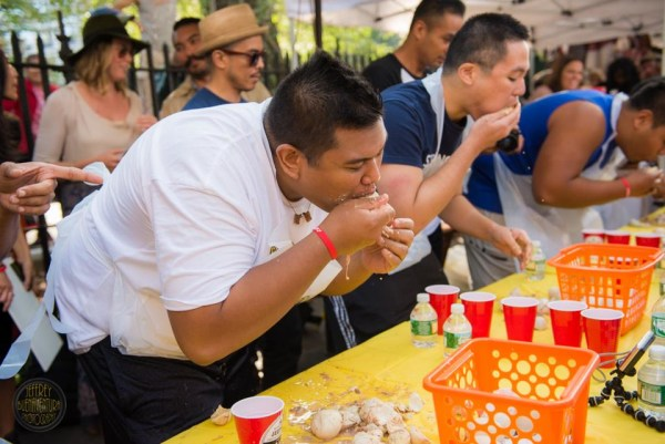 Balut eating contest in NY.