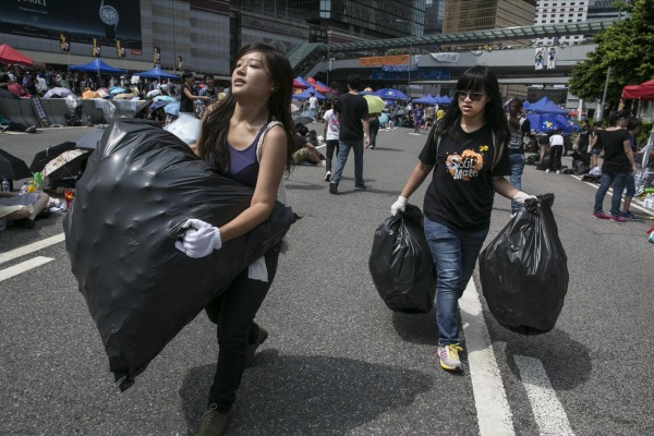 Image: Sit In Protest Continues In Hong Kong Despite Chief Executive's Calls To Withdraw