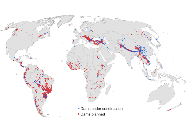 Image: Some 3,700 hydroelectric dams are planned or under construction around the globe