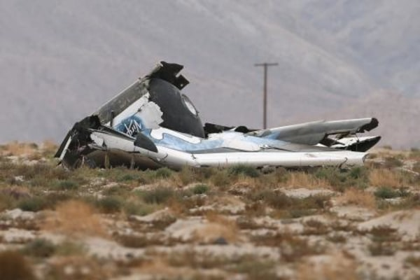 IMAGE: SpaceShipTwo crash scene