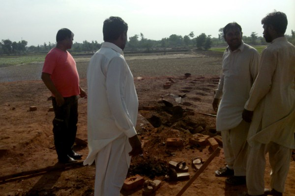 Image: The site where a young Christian couple were burned alive in Pakistan's Punjab province.