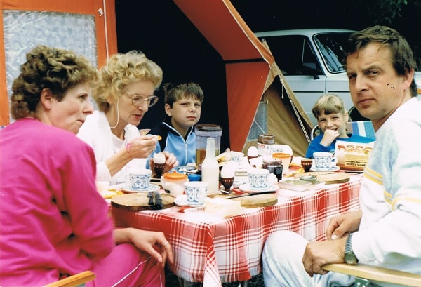 Manfred Reiche, his wife Petra and son Mark on vacation in Bulgaria in 1989.