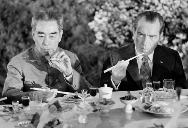 Richard Nixon in China in 1972