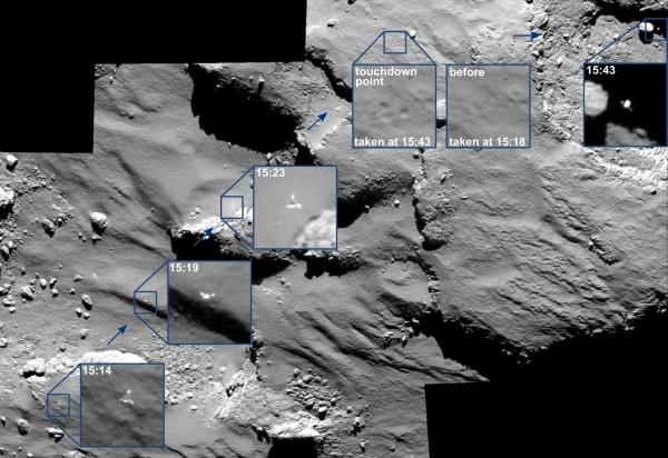 Image: Philae's bounces
