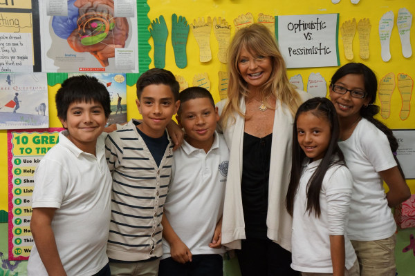 Image: Goldie Hawn and Students