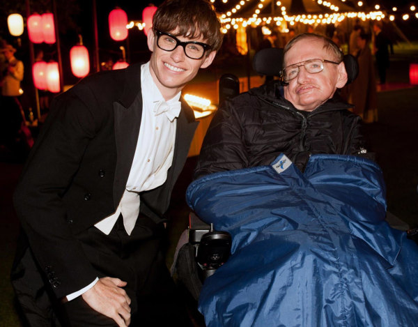 Image: Redmayne and Hawking