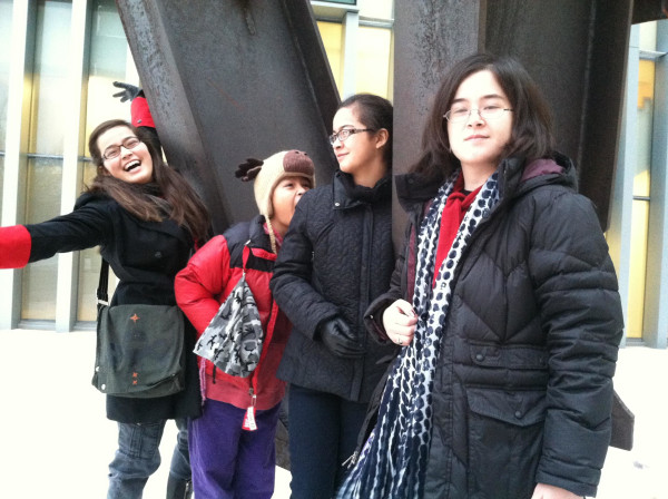 The author, Frances Kai-Hwa Wang's four children the last time they were all home for the holidays.