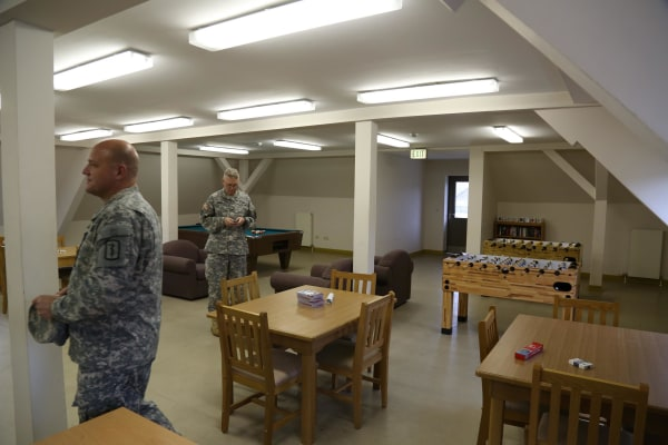 Image: US military returning from Ebola-related missions in West Africawill be quarantined at Smith Barracks in Baumholder, Germany for 21 days.