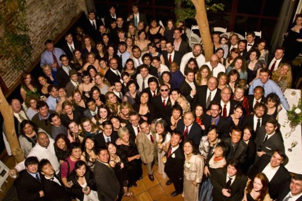 A group photo at Yuri and Mike's wedding.