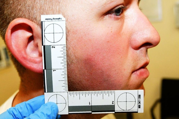 Image: St. Louis County Prosecutor's Office photo shows Ferguson, Missouri police officer Darren Wilson photo taken shortly after August 9, 2014 shooting of Michael Brown, presented to the grand jury