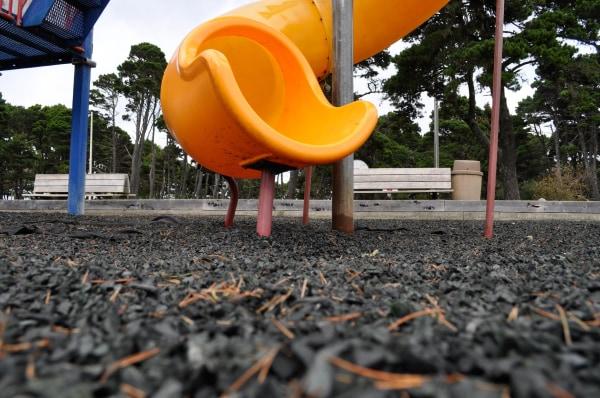 Image: The playground at Bandon City Park in Bandon, Oregon.