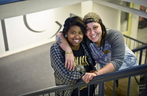 Image: Shatiera Freeman, left, and Elizabeth Olivero