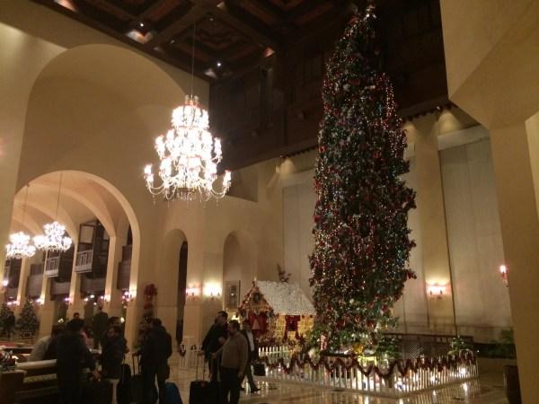 Image: A Christmas display at the Islamabad Serena Hotel.