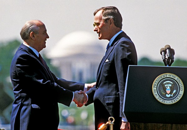 Image: President Bush and Gorbechev at the White House