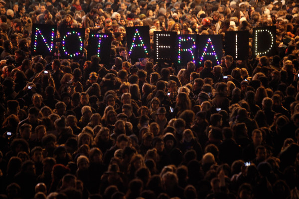 Image: Paris protest of Charlie Hedbo attack