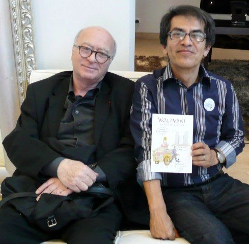 Image: Georges Wolinski, one of the cartoonists killed in Paris with New York cartoonist Felipe Galindo