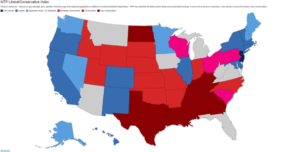 MTP Liberal/Conservative Index MAP