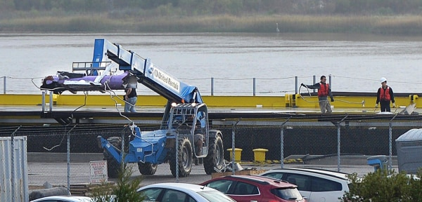 Image: Drone ship returns