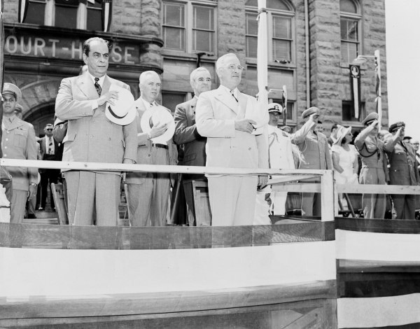 President Harry S. Truman, President Romulo Gallegos of Venezuela